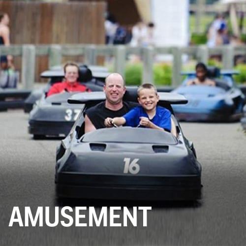 Amusement park rides, body panels and parts.