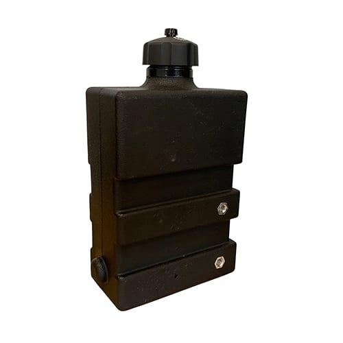 Rotomolded nylon hydraulic fuel tank for lawn mower